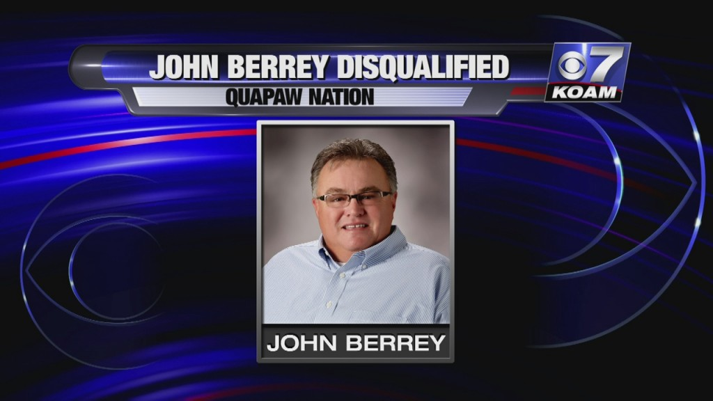 The Quapaw Nation Business Committee Today Voted Unanimously To Disqualify Former Chairman John Berrey As A Candidate For Vice Chairman