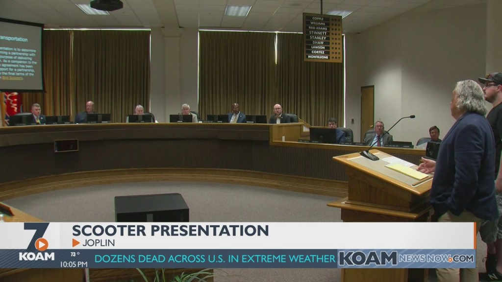 Joplin City Council Hears Presentation About Scooters