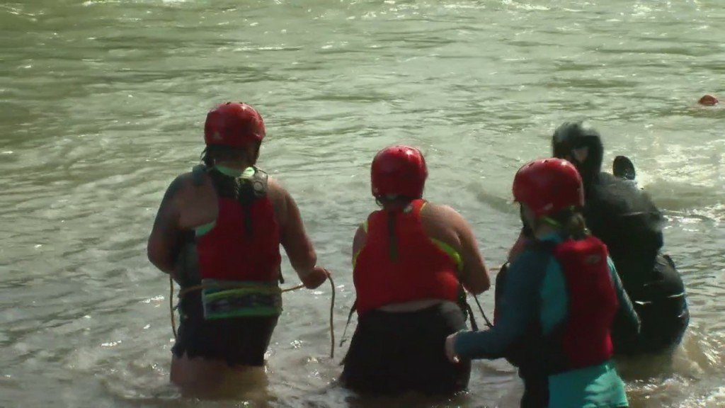 Water Rescue Training Just Outside Of Joplin Takes A Surprising Turn