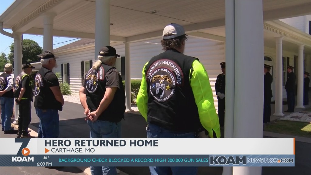 Four State Hero's Remains Returned Home