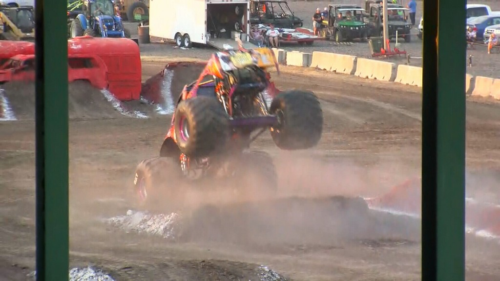 A Monster Truck Does Trucks At The Miami Fairgrounds
