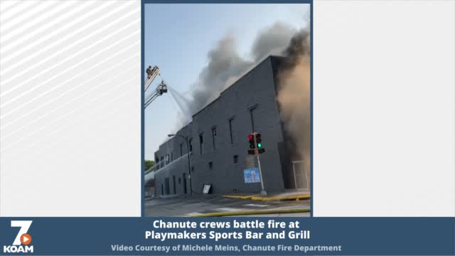 Chanute Crews Battle Fire At Playmakers Sports Bar And Grill