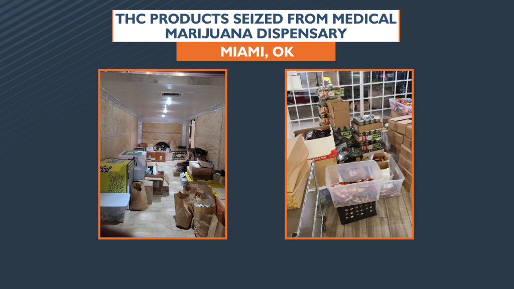 Thc Products Seized From Dispensary In Oklahoma