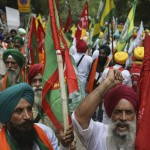 Indian Farmers Protest Agriculture Laws Near Parliament