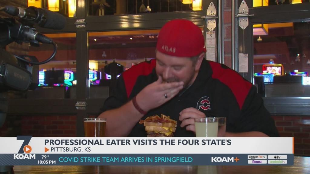 A Famous Professional Eater Arrived In Pittsburg Today To Take On The Brutus Buster Burger Challenge