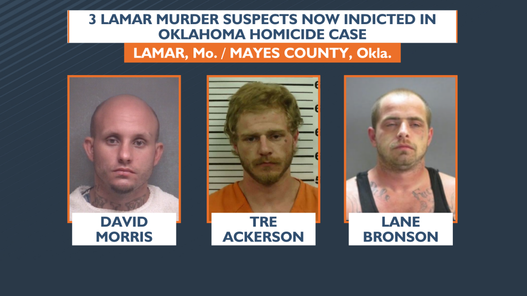 3 Lamar murder suspects now indicted in Oklahoma homicide case