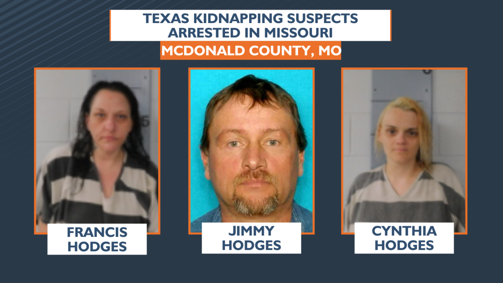 Texas Kidnapping Suspects Arrested In Missouri