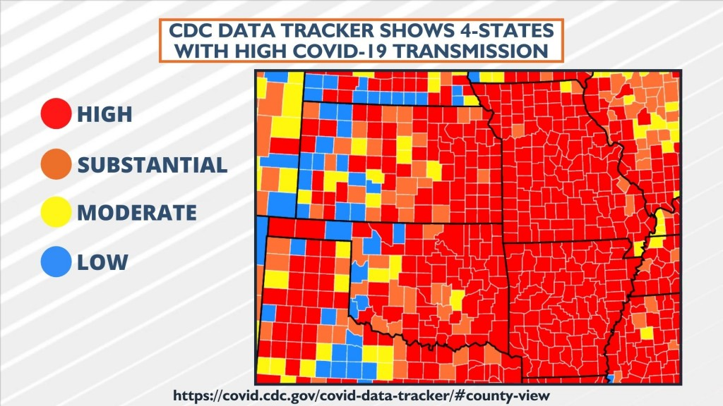 Cdc Data Tracker Shows 4 States With High Covid 19 Transmission