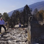California, Nevada Governors Tour Site Of Huge Wildfire