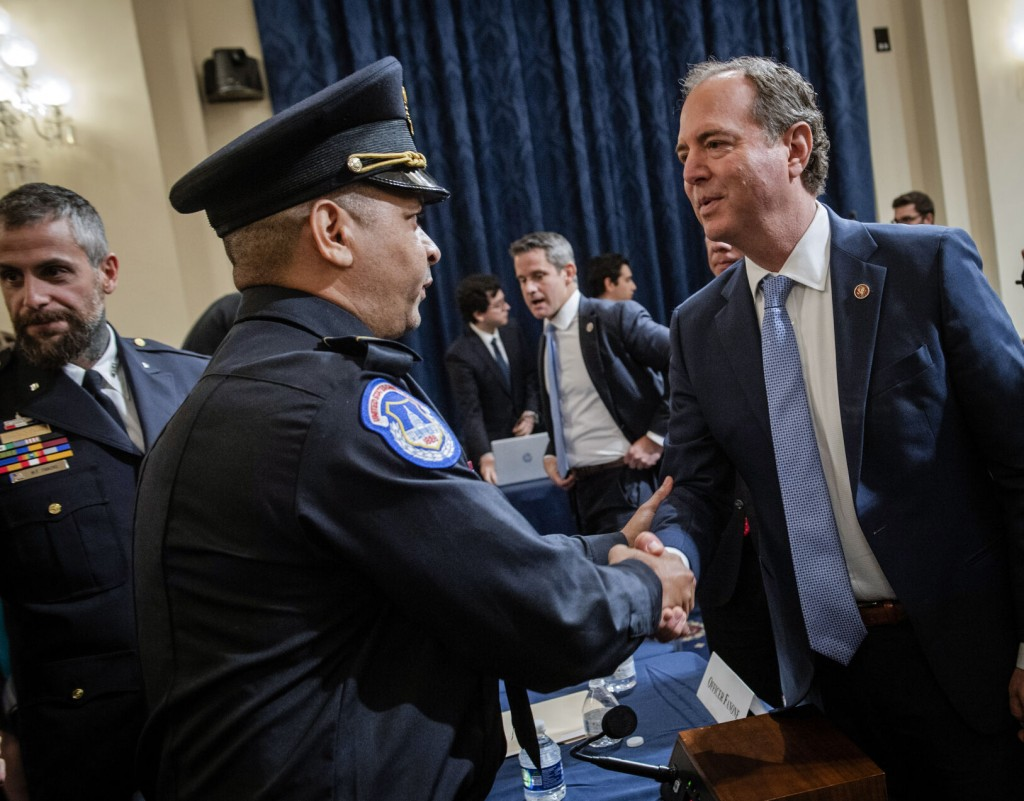 Capitol Police Testimony Blunts Gop's Law And Order Message