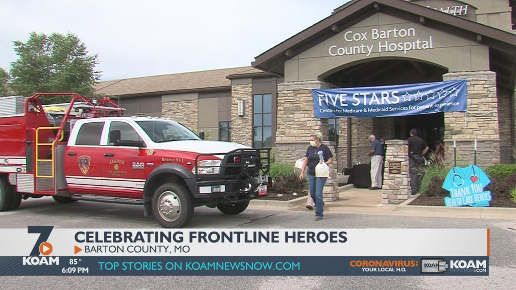 Local Cox Health Locations Take Part In Their Annual Salute To First Responders.