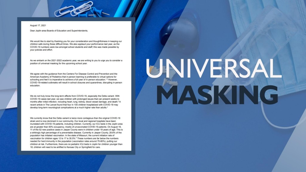 Physicians Implore Area Schools To Require Universal Masking