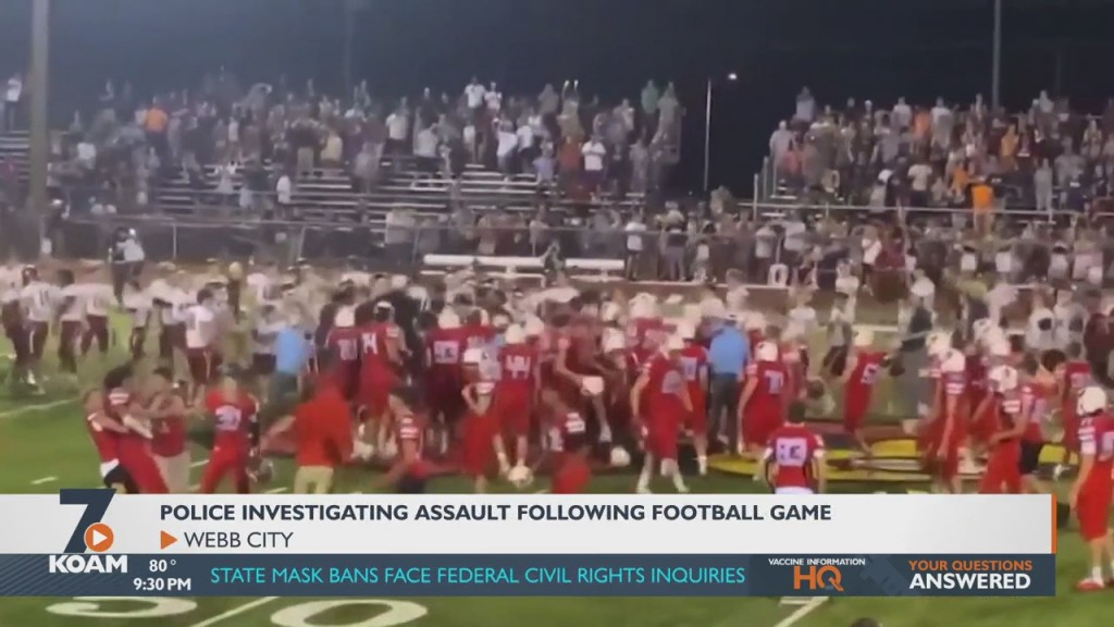 Police Continue To Investigate An Alleged Assault From Friday Night's Football Game.