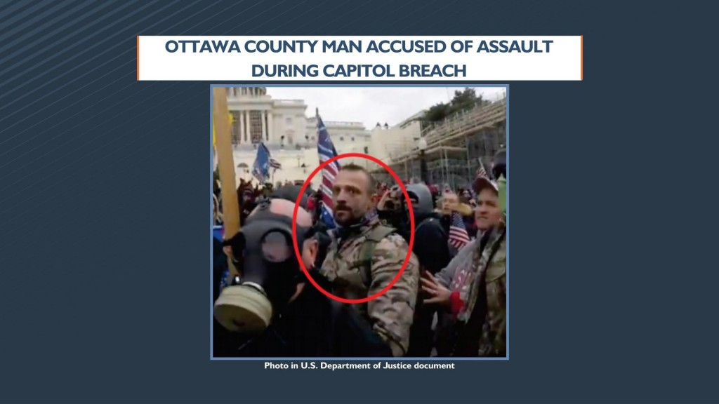Ottawa County Man Accused Of Assault During Capitol Breach