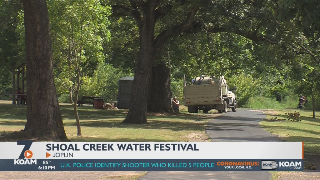 organizers setting up the shoal creek water festival