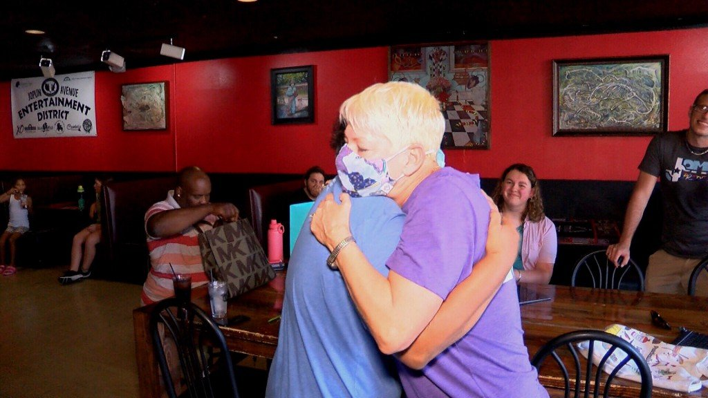 The Founder Of Free Mom Hugs Gives A Hug