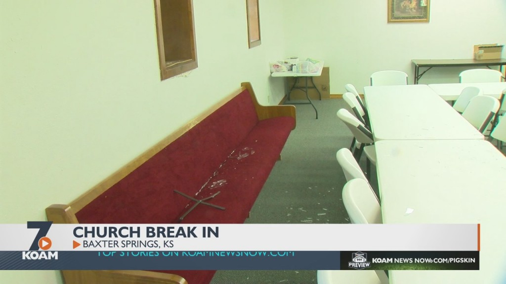 The Grace Baptist Church In Baxter Springs Was Robbed Sometime Between Last Sunday And Today, According To The Church's Pastor