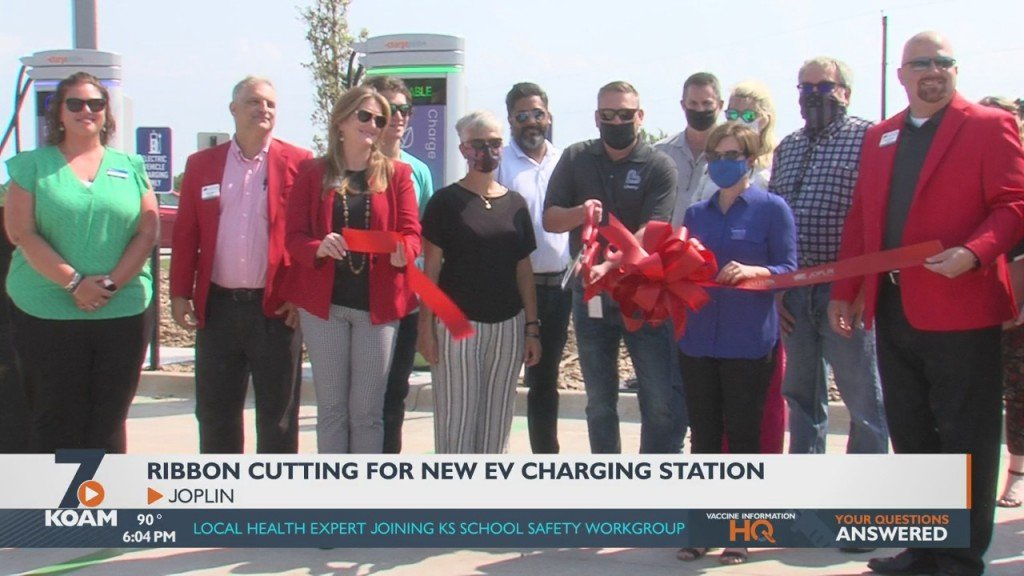 Liberty Utilities Today Cut The Ribbon On Its New Set Of Electric Vehicle Charges At The Big Apple Travel Center