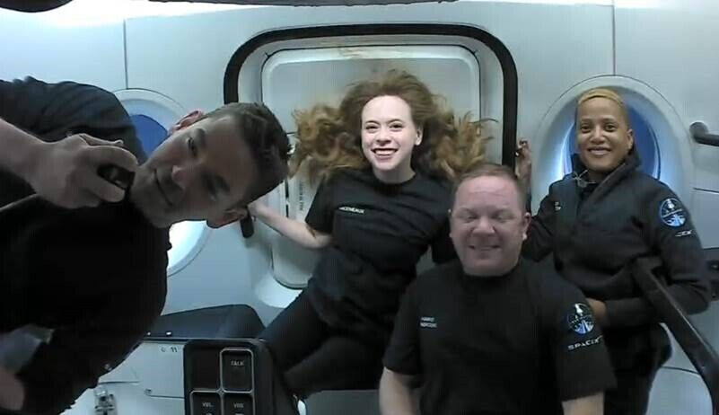 Spacex's 1st Private Crew Motivates Cancer Kids From Orbit