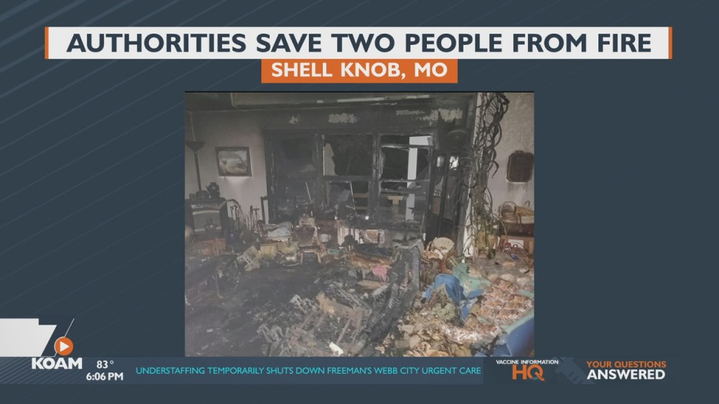 Authorities Save Two People From Fire