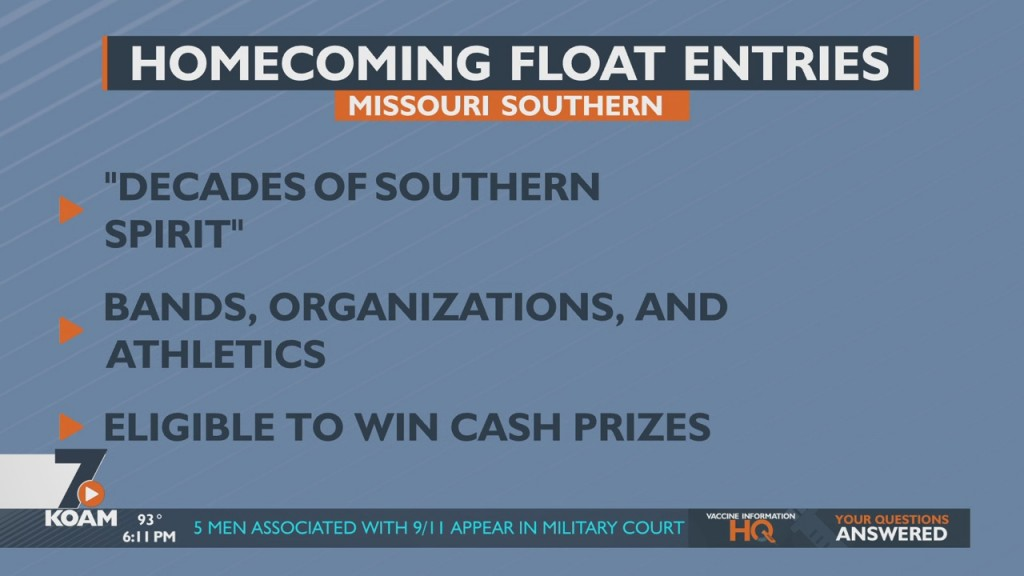 Missouri Southern Seeks Entries For It's Homecoming Parade