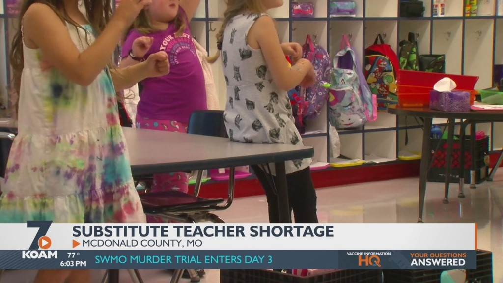 The Mcdonald County School District Says It's Dealing With A Substitute Teacher Shortage