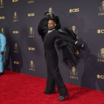 Mj Rodriguez Wore Teal, Billy Porter Winged Black At Emmys