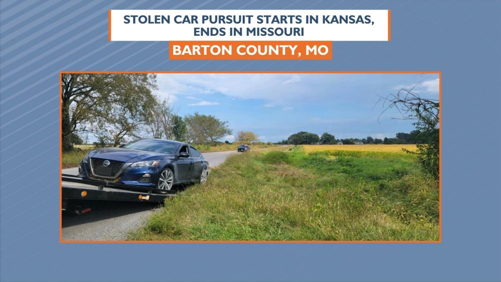 Stolen Car Pursuit Starts In Crawford County Ends In Missouri