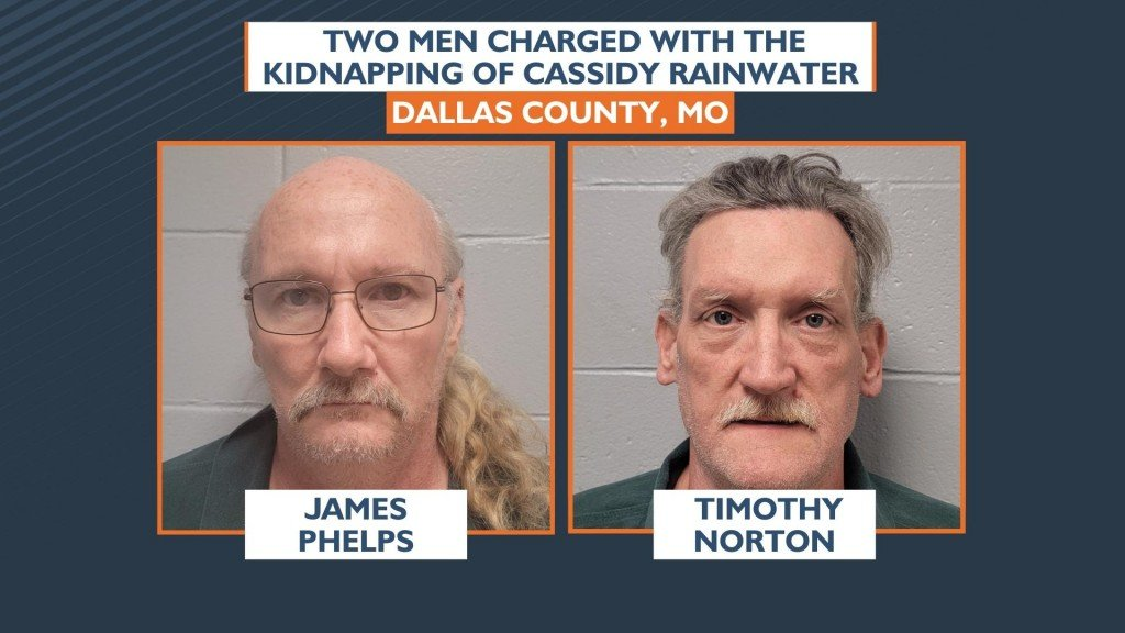 James Phelps Timothy Norton Charged With The Kidnapping Of Cassidy Rainwter