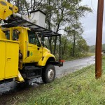 Newmac Electric Works On Downed Trees Power Lines On Jaguar Road 5