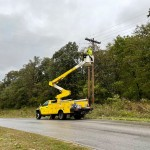 Newmac Electric Works On Downed Trees Power Lines On Jaguar Road 3
