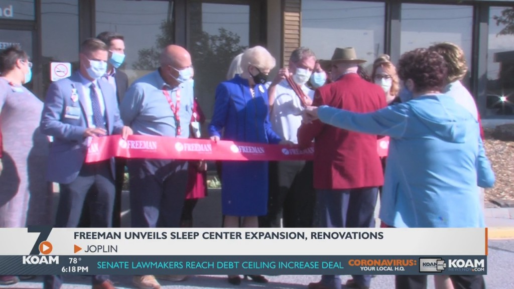 Freeman Health Officials Unveil Their Newly Expanded Sleep Center.