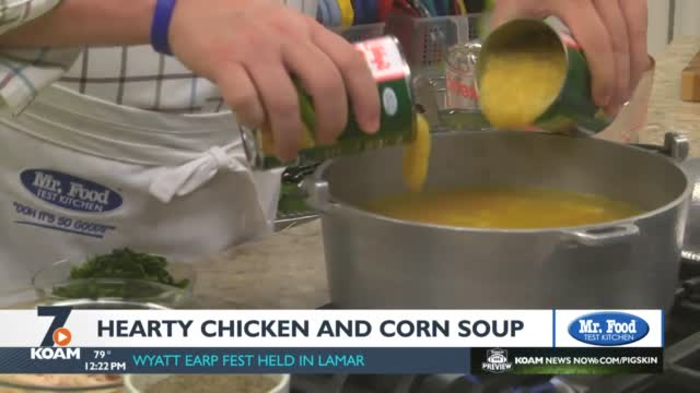 Mr. Food: Hearty Chicken And Corn Soup
