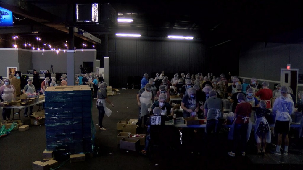 Destiny Church In Joplin Packs Meals For The Hungry