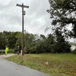 Newmac Electric Works On Downed Trees Power Lines On Jaguar Road 2
