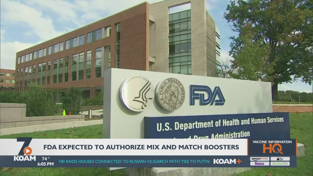 The Fda Could Allow People To Mix And Match Vaccine Boosters