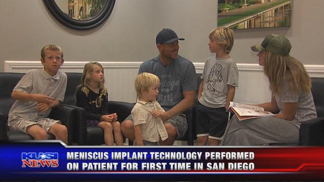 Healthy Living: Father of six receives first meniscus replacemen