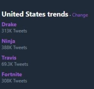 Drake, JuJu, and Travis Scott play 'Fortnite' with 'Ninja