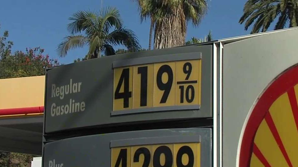 San Diego County average gas price nears $4 per gallon -
