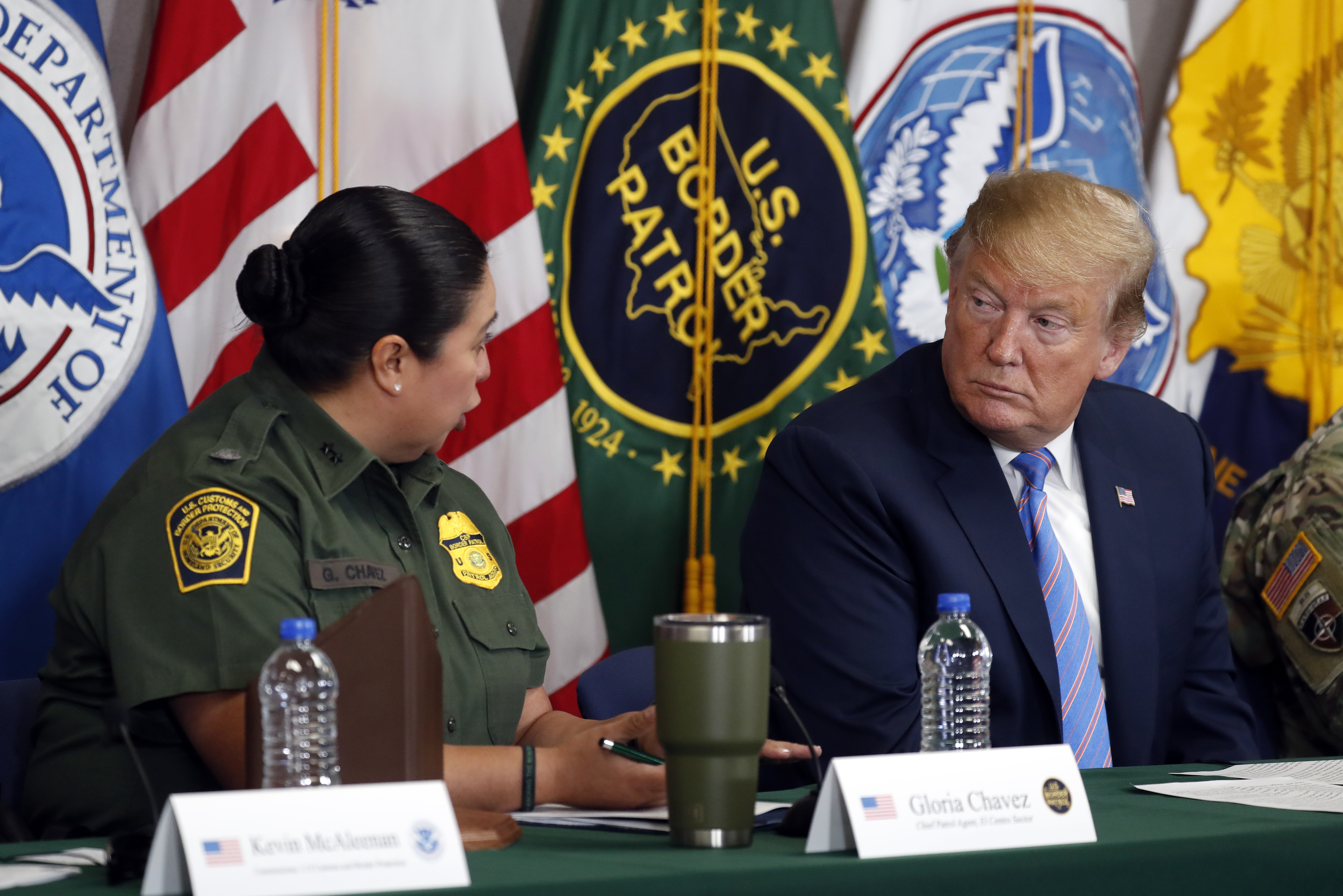 Trump Round Table.In California President Trump Pushes Border Security And Tours New