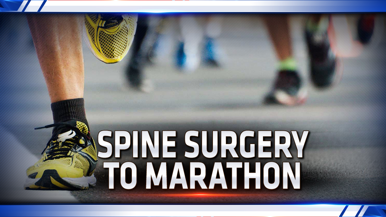 Local runner goes from spine surgery to finish line -