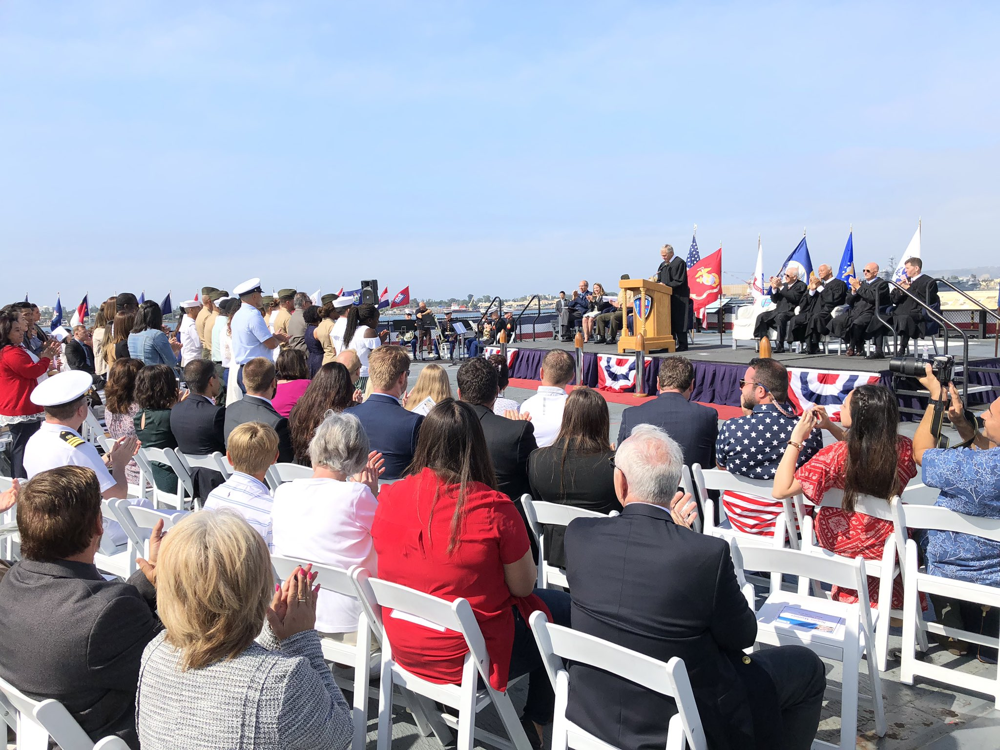 US Naturalization Ceremony aboard the USS Midway Museum -