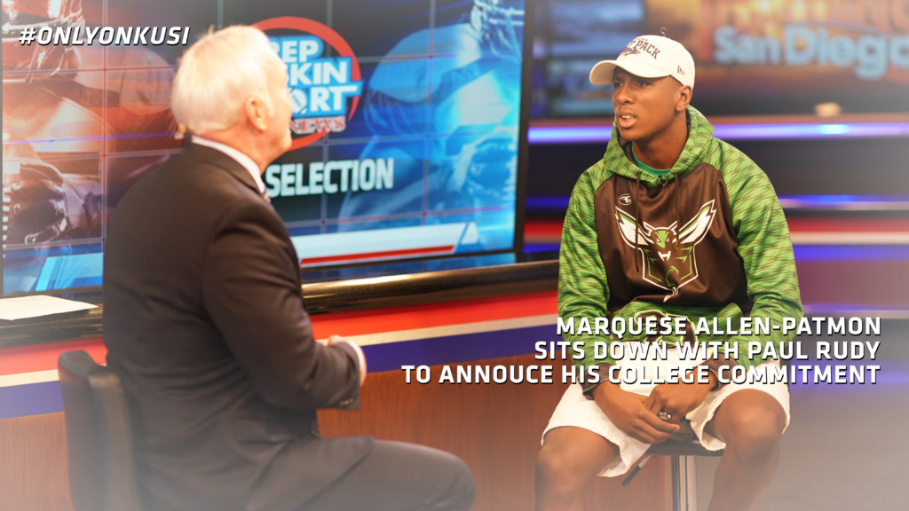 Marquese Allen-Patmon sits down with Paul Rudy to announce college commitment.