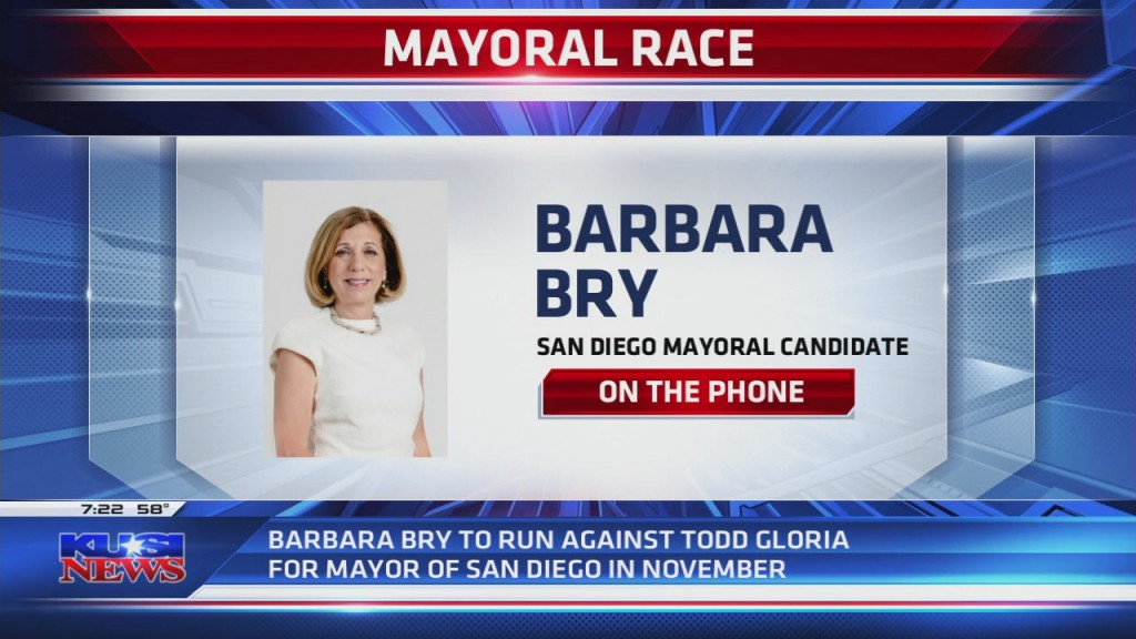 Mayoral Candidate Barbara Bry On The Phone