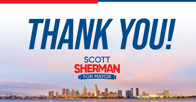Scott Sherman For Mayor Thank You