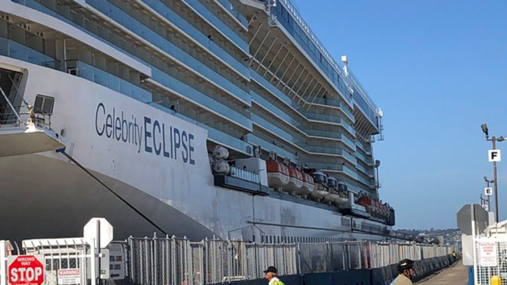 Celebrity Cruise Ship Disembarks In San Diego