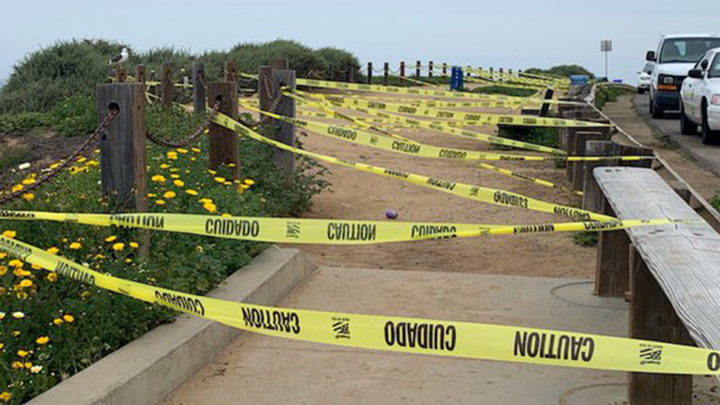 Sunset Cliffs Caution Tape