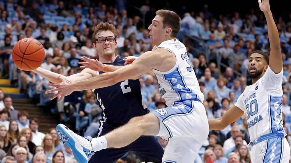 Yale Basketball Versus Unc