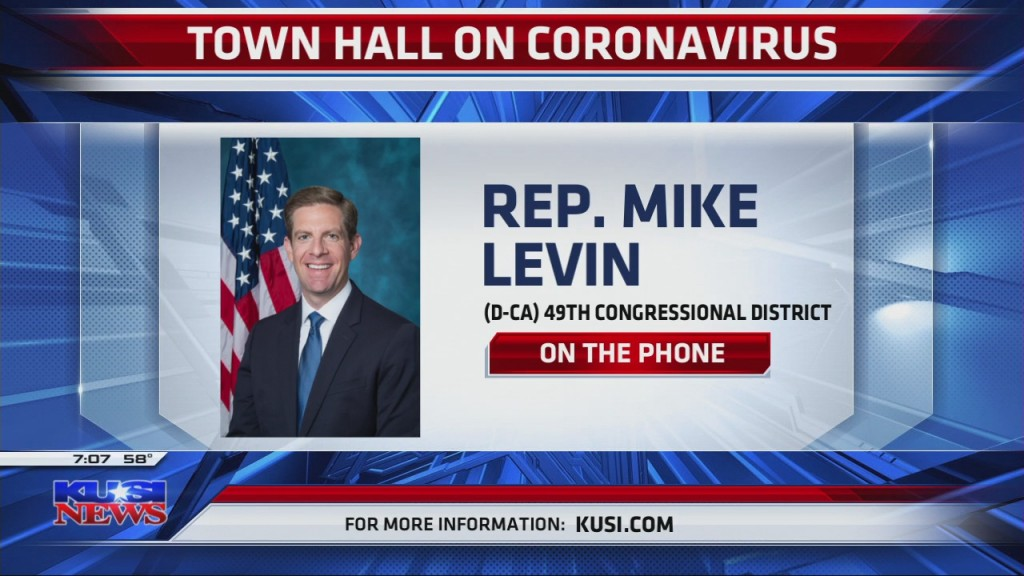 Rep. Mike Levin To Host Town Hall On Coronavirus