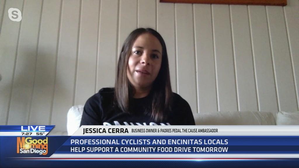 Cyclists Help With Encinitas Food Drive
